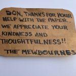 Sincere Thanks